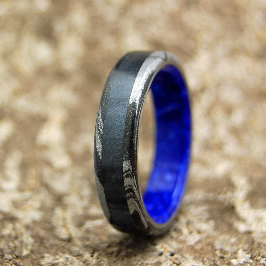 Greek Goddess of Dark | Handcrafted Women's Titanium Wedding Rings - Minter and Richter Designs