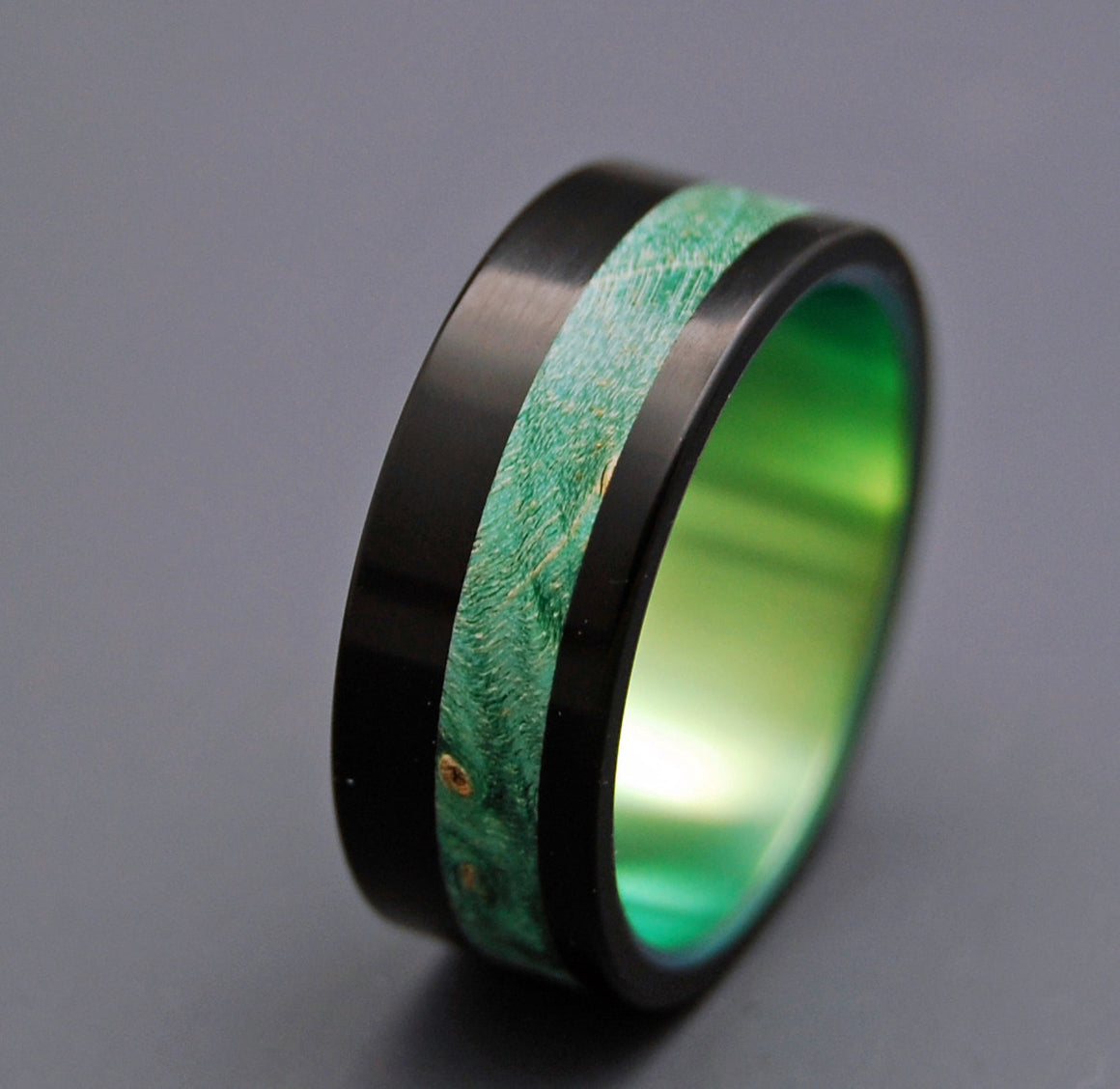 Galway | Titanium Wooden Wedding Rings - Minter and Richter Designs