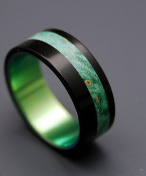 Galway | Titanium Wooden Wedding Rings