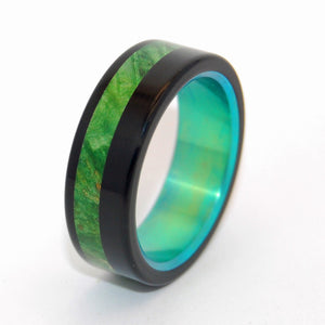 Green Maple Burl Galway | Wooden Wedding Ring