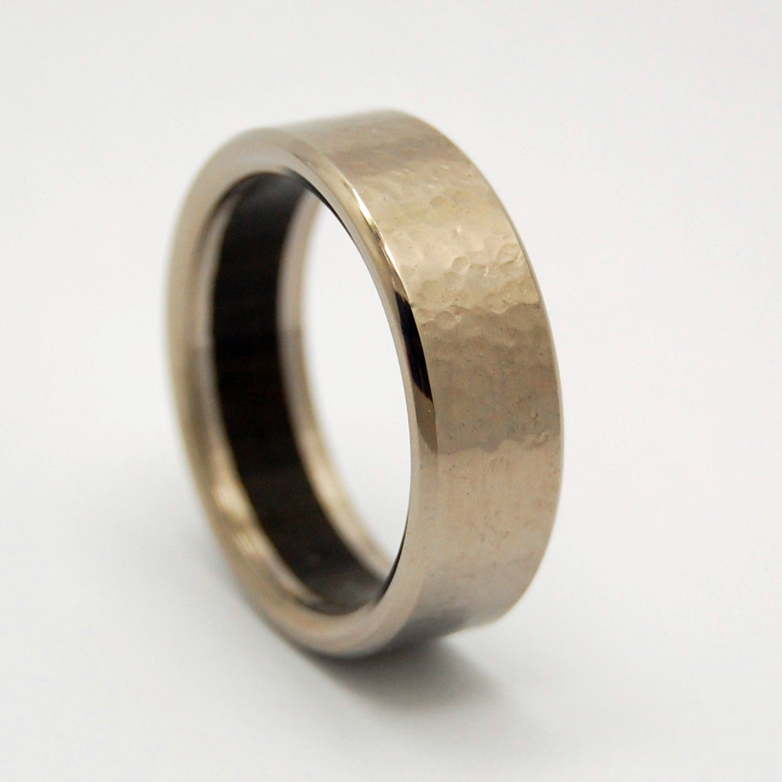 BOG | Aged Bog Oak Wood & Titanium - Unique Wedding Rings - Titanium Wedding Rings - Minter and Richter Designs