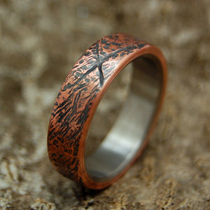 Beaten Copper | Mens Handcrafted Wedding Bands & Rings