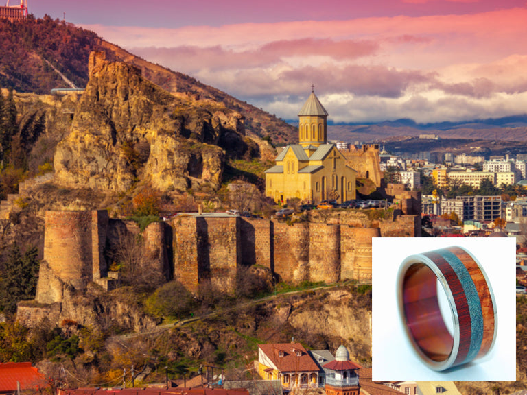 Hayastan - Motherland Armenia | Titanium Wedding Ring - Minter and Richter Designs