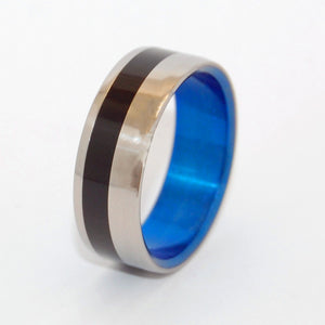 BEVELED HEATHCLIFF | Water Buffalo Horn - Titanium Wedding Rings - Men's Rings - Minter and Richter Designs