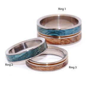 HEAVEN ON EARTH |  Golden Box Elder Wood - Unique Wedding & Engagement Rings - Minter and Richter Designs