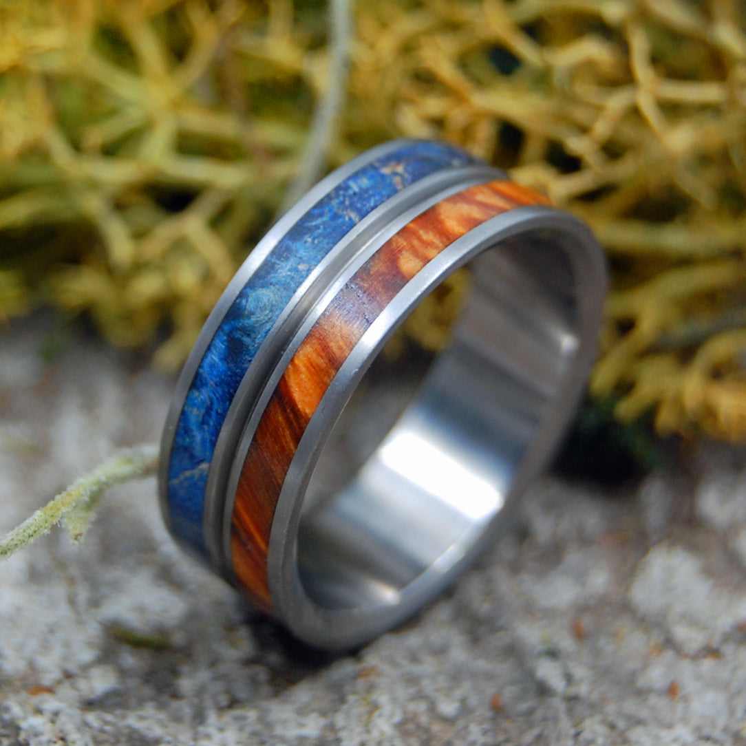 NAKED HEAVEN ON EARTH | Wood & Titanium Wedding Rings - Minter and Richter Designs