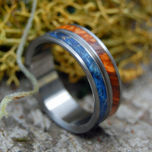 Handcrafted and Hand Anodized Wooden Wedding ring | NAKED HEAVEN ON EARTH - Minter and Richter Designs