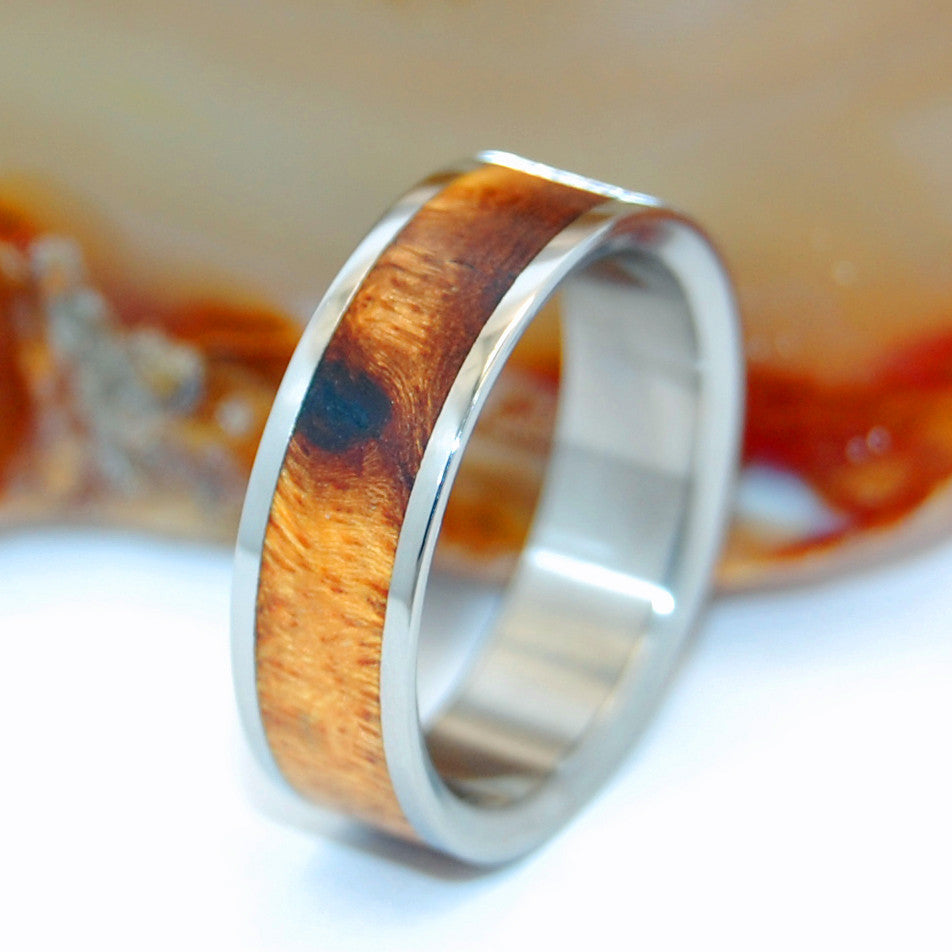 Desert Rose | Wooden Wedding Ring