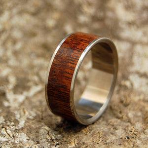 HIDDEN FOREST | Hawaiian Koa Wood & Titanium  -  Wooden Wedding Rings - Minter and Richter Designs