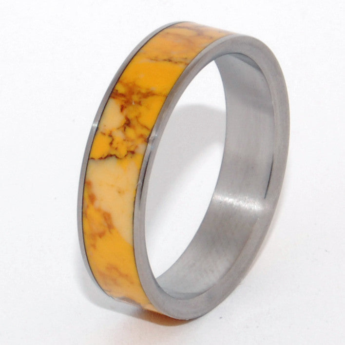 Honey | Handcrafted Stone Titanium Wedding Ring - Minter and Richter Designs