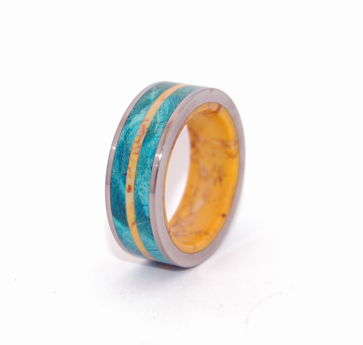 Tornado of Desire and Sunshine | Handcrafted Wooden Wedding Rings