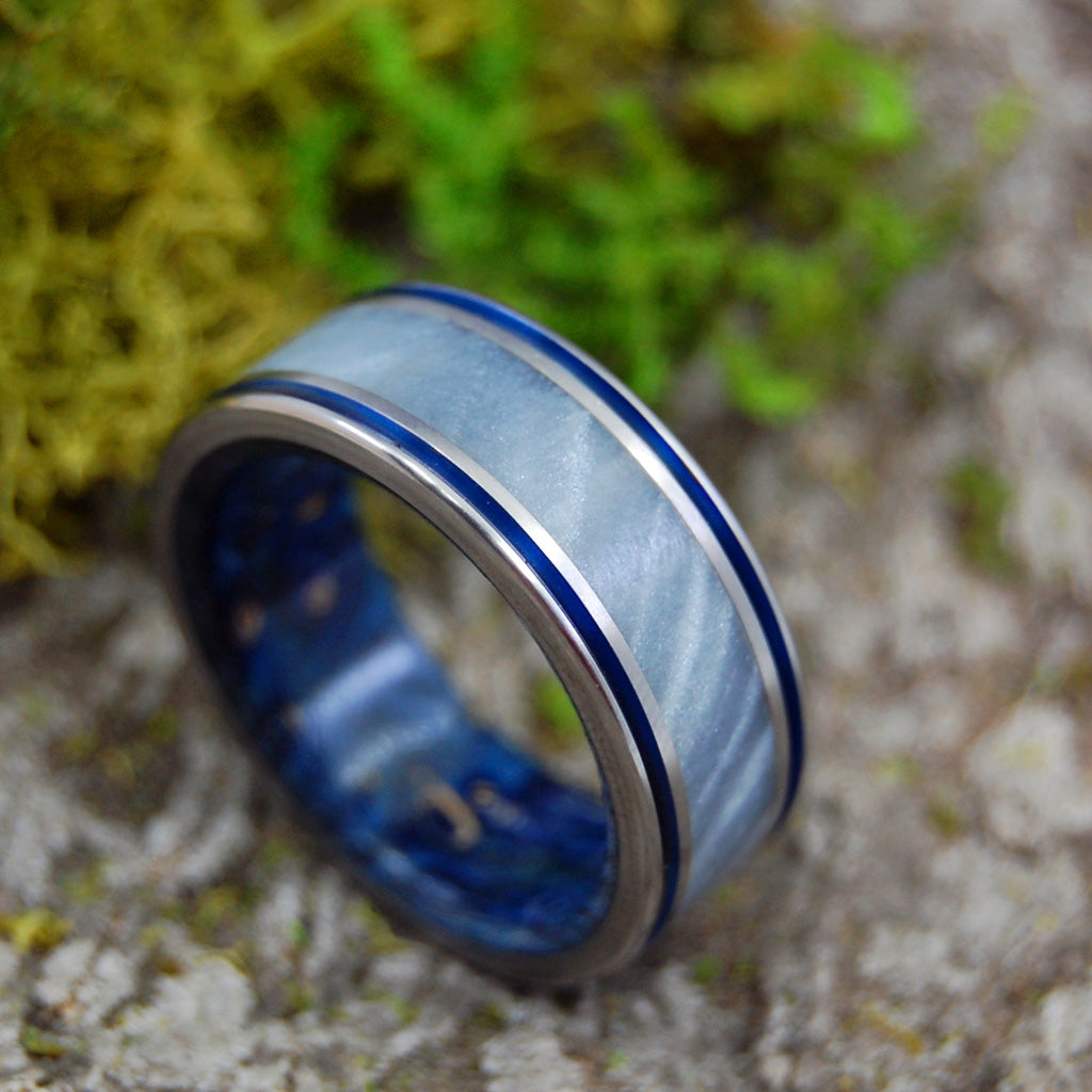 Men's Titanium Wedding Rings - Wooden Wedding Rings | HURRICANE LOVE