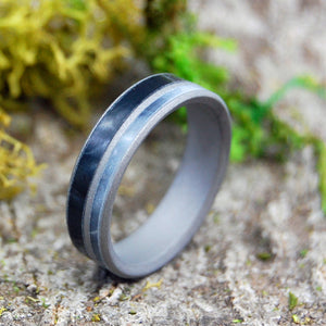 Black Ring - Titanium Wedding Ring | I MEAN BUSINESS - Minter and Richter Designs
