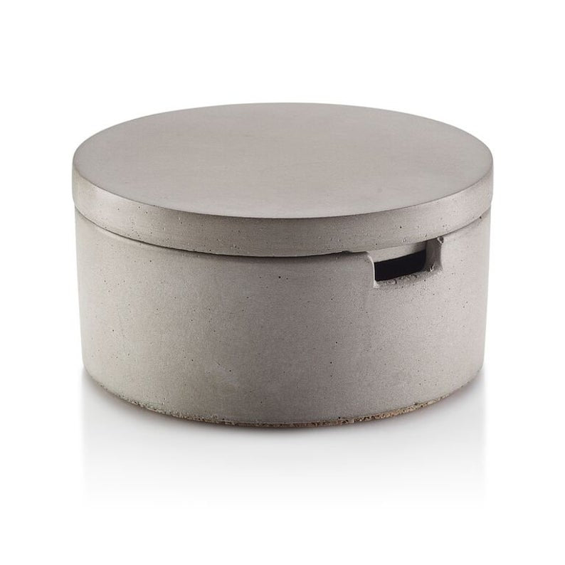 Wedding Gift - Groomsmen Bridal Gift | CONCRETE SALT CELLAR WITH SPOON - Minter and Richter Designs