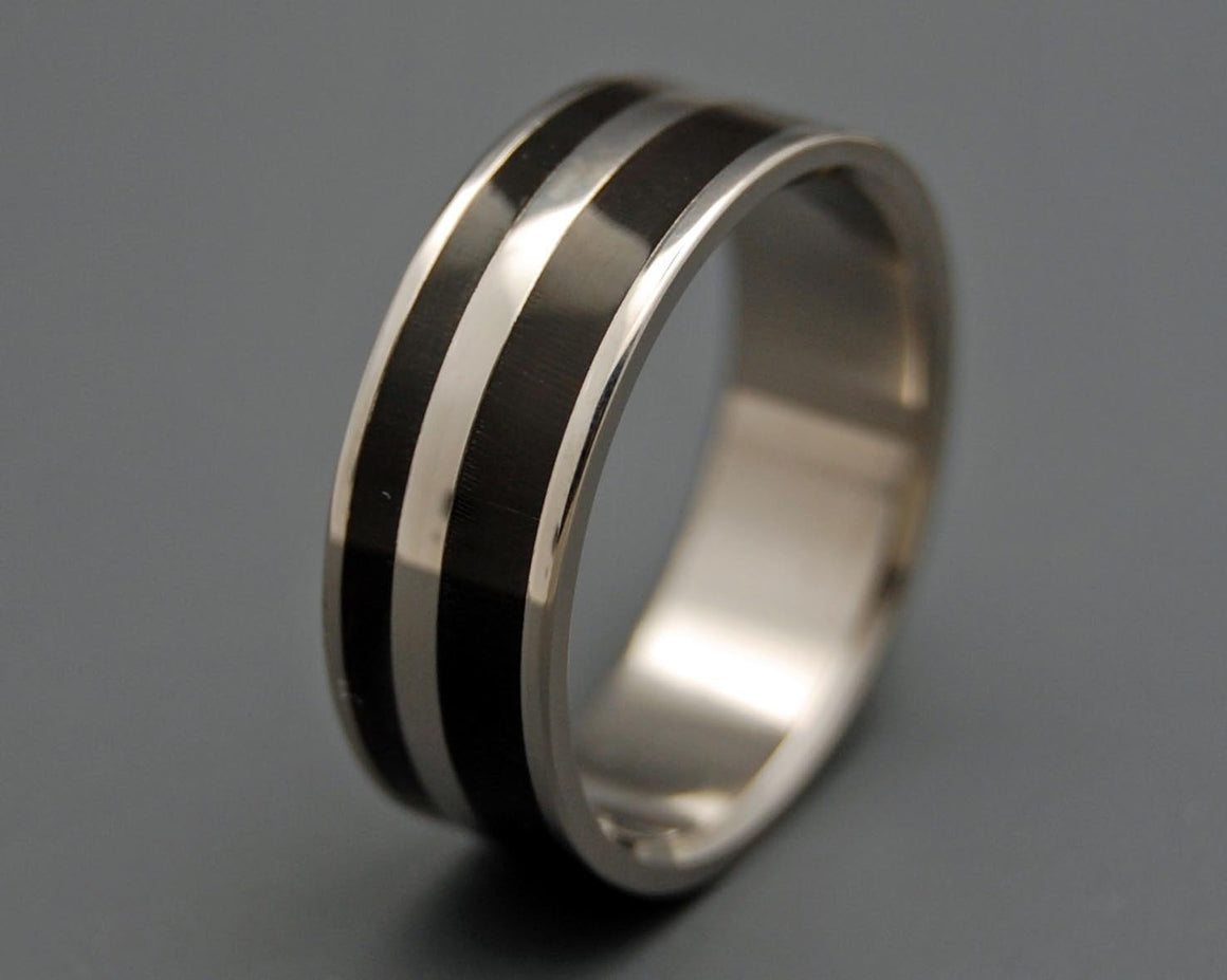 STRONG & SVELTE | Water Buffalo Horn Titanium Wedding Rings - Minter and Richter Designs