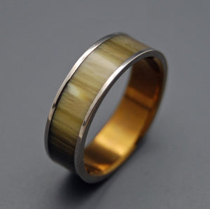 Love Corral | Horn and Hand Anodized Titanium Wedding Ring - Minter and Richter Designs