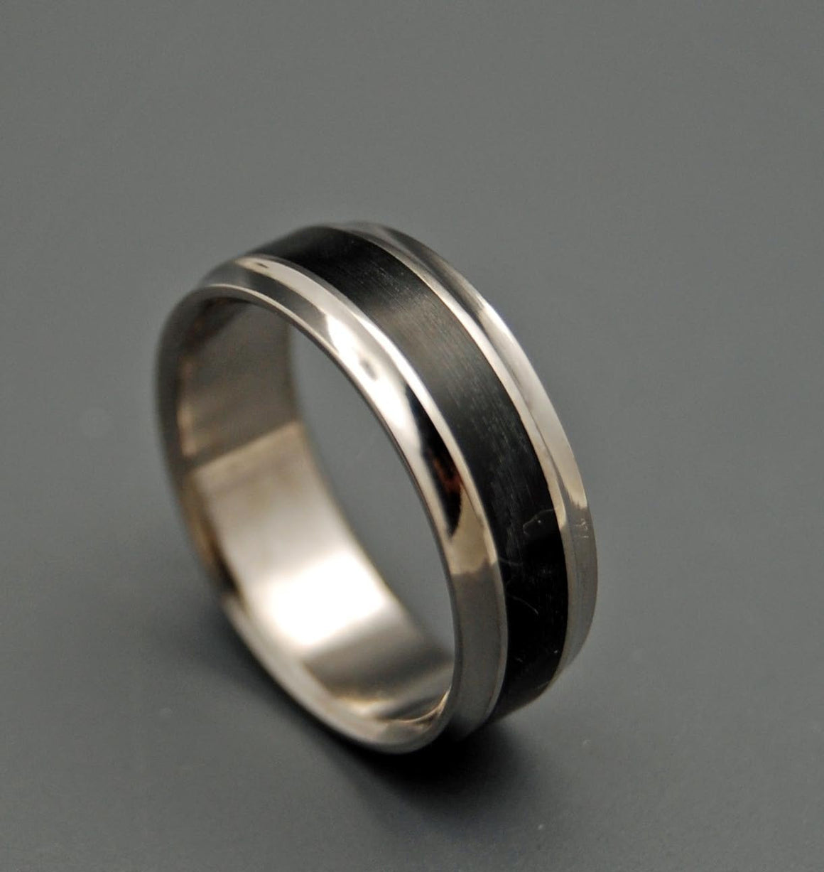 Black Beauty | Handcrafted Titanium Wedding Ring - Minter and Richter Designs