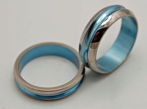 STARBOARD | Blue Titanium - Unique Wedding Rings Sets - Minter and Richter Designs