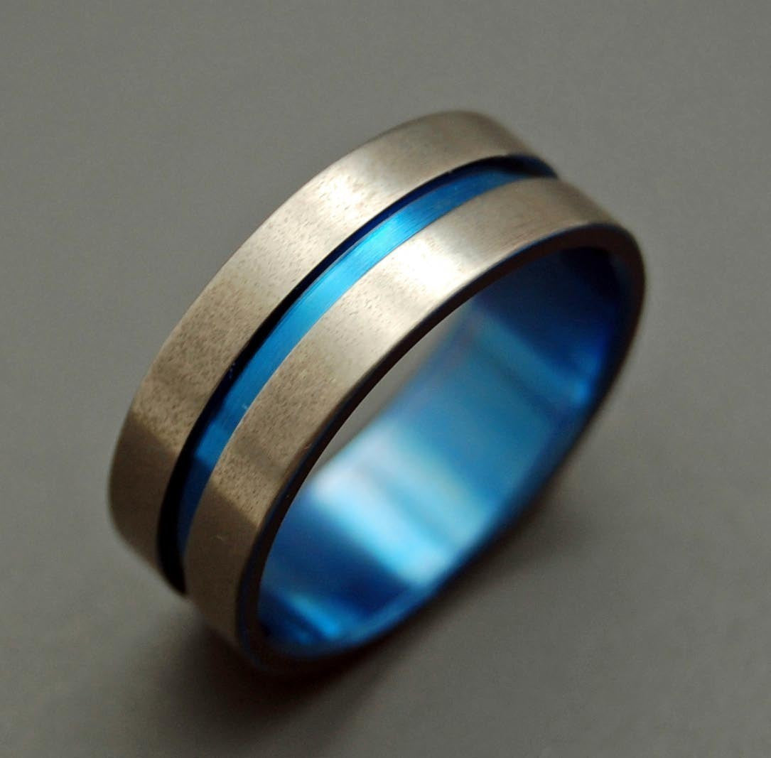 Lord Henry Blue | Titanium Wedding Rings - Minter and Richter Designs