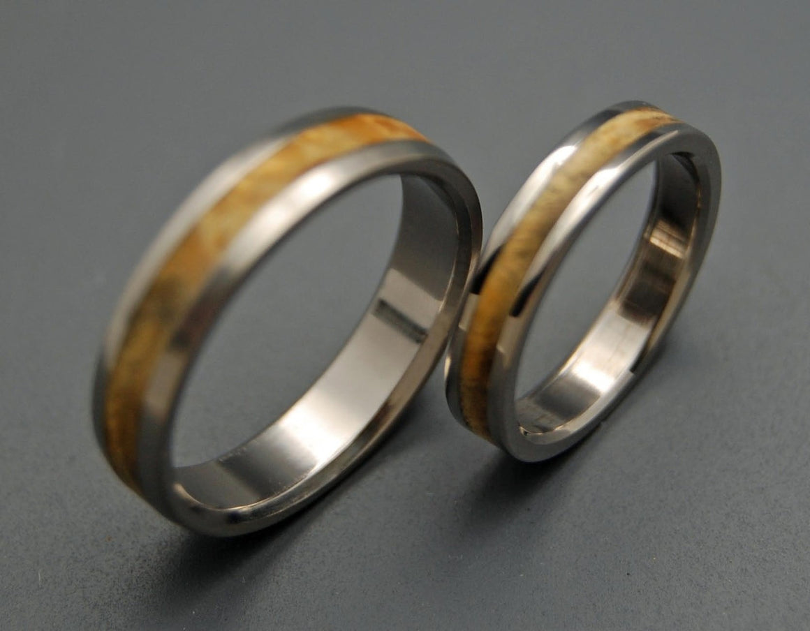 RUNAWAY | California Buckeye Wood & Titanium - Unique Wedding Rings - Women's Wedding Rings - Minter and Richter Designs