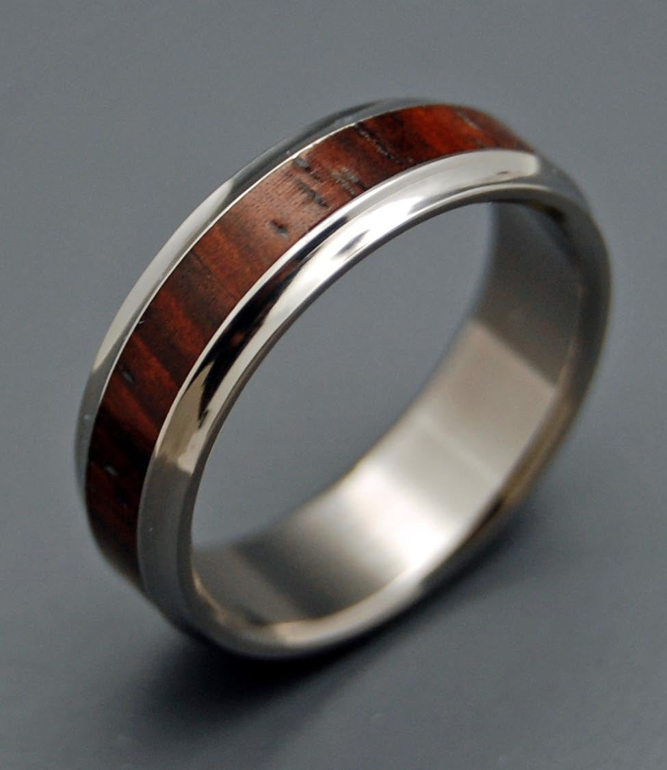 KNOWING THIS | Cocobolo Wood Wedding Rings - Unique Wedding Rings - Minter and Richter Designs