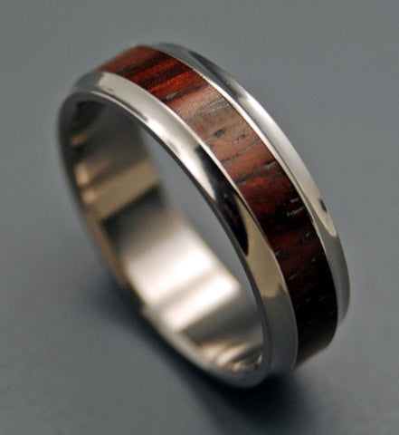 wooden wedding rings - Titanium Wedding Rings For Her