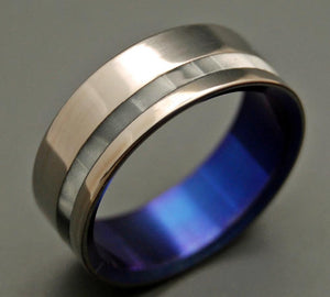 WHEN YOU ENTERED | Gray Pearl Opalescent Wedding Rings - Unique Wedding Rings - Minter and Richter Designs