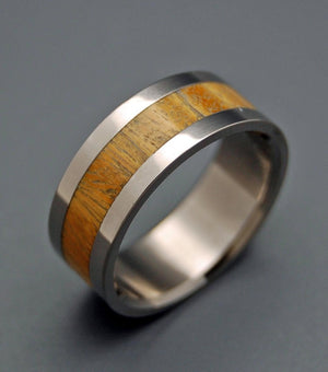 Tua | Ancient Kauri Wood - Titanium Wedding Ring - Minter and Richter Designs