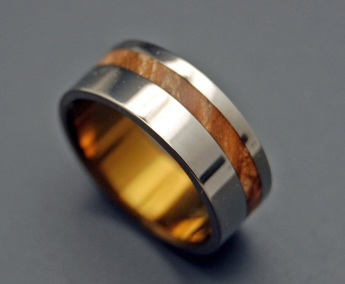 SILVER FAUN | Maple Wood & Titanium - Unique Wedding Rings - Wedding Rings - Minter and Richter Designs