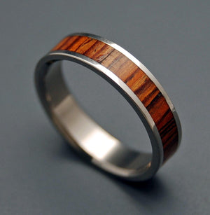 HAVANA | Cocobolo Wood Wedding Rings - Unique Wedding Rings - Minter and Richter Designs
