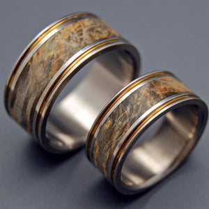 ALCHEMIST | Handcrafted Titanium & Wooden Wedding Rings Set - Minter and Richter Designs