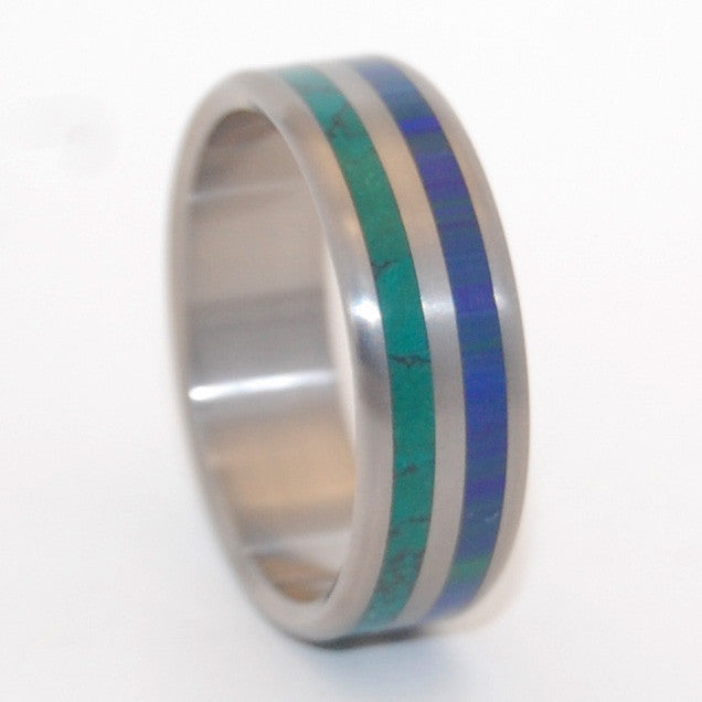 TO JUMP INTO LOVE | Jade Stone & Azurite Malachite - Unique Wedding Rings - Minter and Richter Designs
