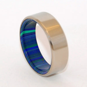 IN THIS TOGETHER | Azurite Malachite Stone - Men's Wedding Ring - Minter and Richter Designs