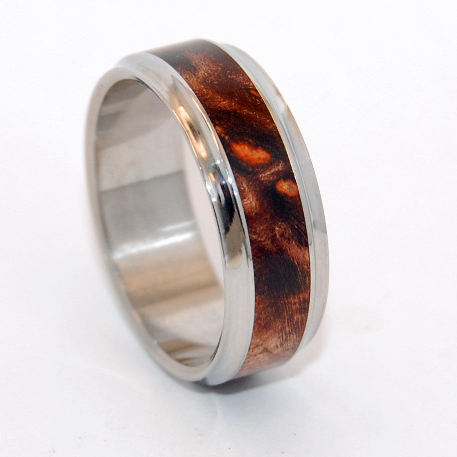 WINDHAM | Dark Maple Wood & Steel Wedding Rings - Unique Wedding Rings - Minter and Richter Designs