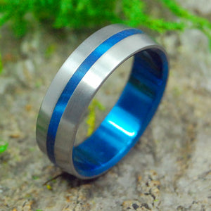 Titanium Wedding Rings | INSPIRED BY BLUE - Minter and Richter Designs