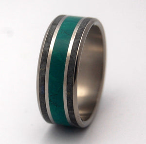 Men's Wedding Rings - Black and Green Wedding Bands | MORNING SONG