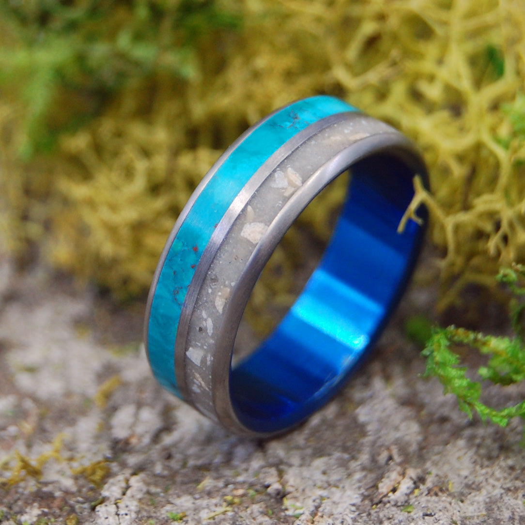 Titanium Men's Wedding Ring | JERESALEM STONE