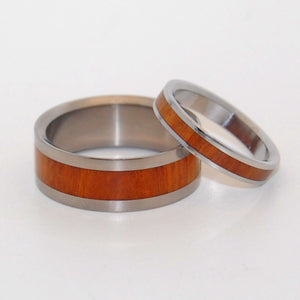 AURI BLISS | Ancient Kauri Wood - Wooden Wedding Rings - Handcrafted Matching Wooden Wedding Set - Minter and Richter Designs