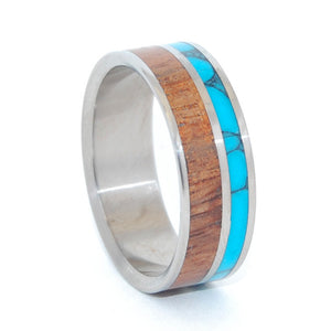 Wings Unite | Wood and Stone Titanium Wedding Ring - Minter and Richter Designs
