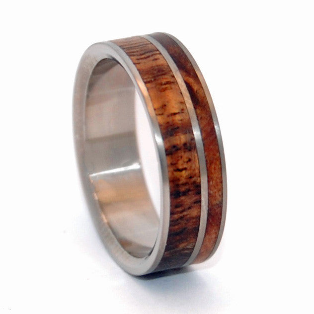 COME TOGETHER | Koa Wood & Maple Wood - Wooden Wedding Ring - Minter and Richter Designs
