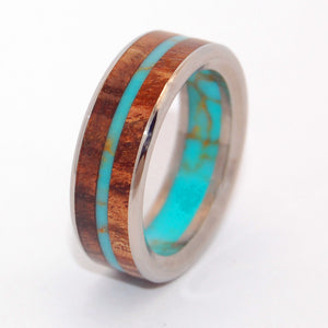 El Rey Dorado - The Golden King | Wood and Stone Titanium Wedding Ring