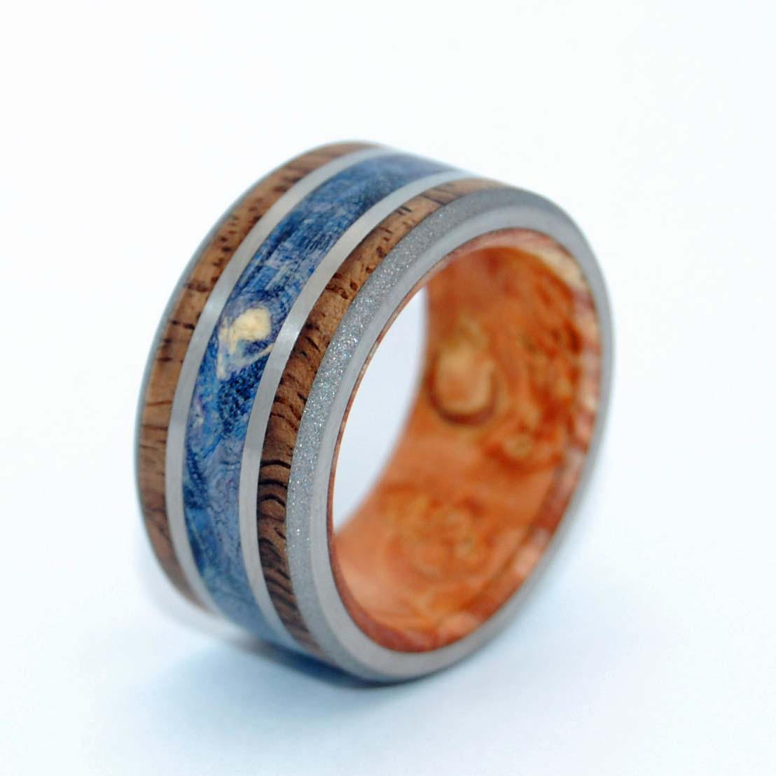 Koa Triumph | Handcrafted Wooden Wedding Ring - Minter and Richter Designs