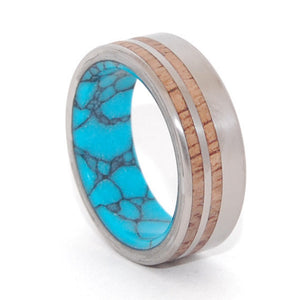 Tendrils of Revelry | Handcrafted Stone and Wood Wedding Ring - Minter and Richter Designs