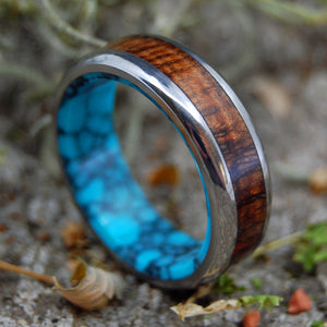 Mens Wooden Wedding Ring, Womens Wedding ring | KOA TO THE SEA