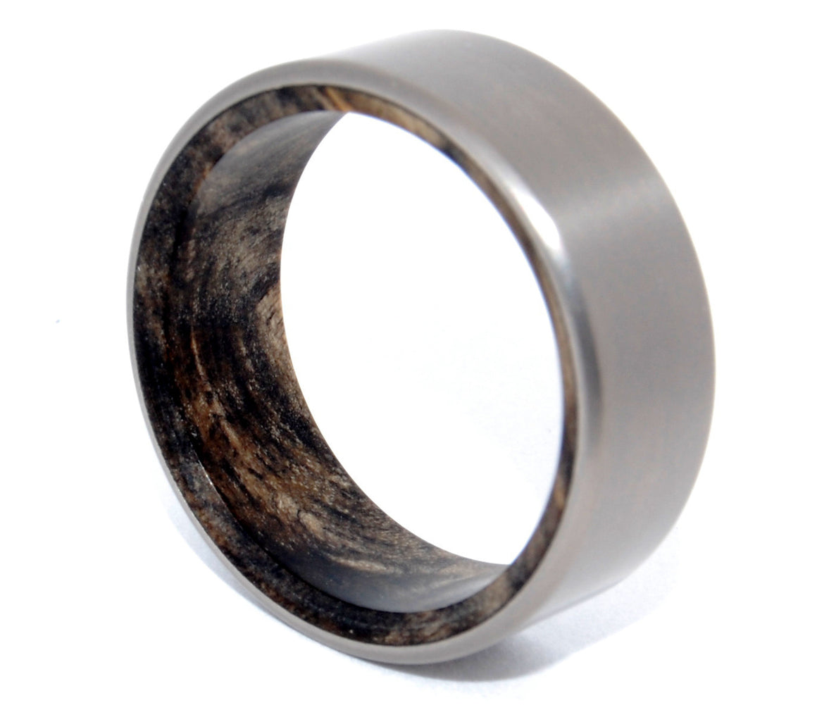 KORE II | California Buckeye Wood & Titanium Wedding Rings - Minter and Richter Designs