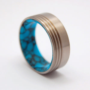 Lake Baikal Concerto | Turquoise Wedding Band - Minter and Richter Designs
