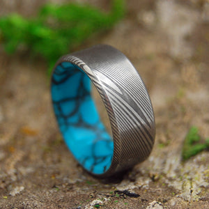 Damasteel Wedding Ring | Unique Men's Black Wedding Rings | LAKE EVEREST