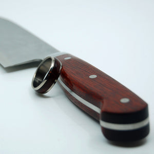 "Wedding Gift - Groomsmen Gift - Fathers Day - 7"" SANTOKU CHEF'S KNIFE BLOODWOOD HANDLE"