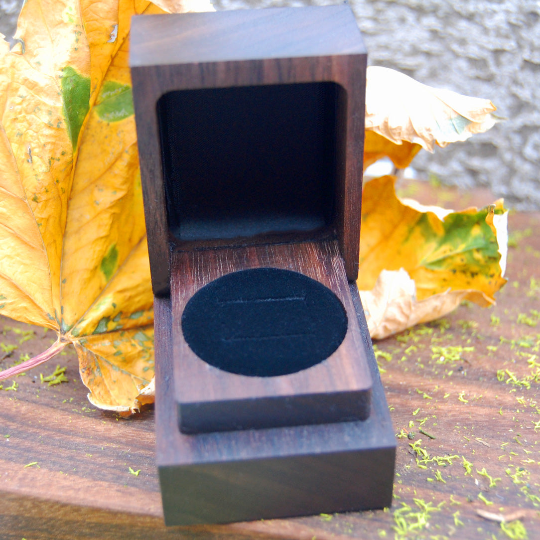 Wedding Ring Box  - Black Walnut Wood 2 Ring Box - Minter and Richter Designs