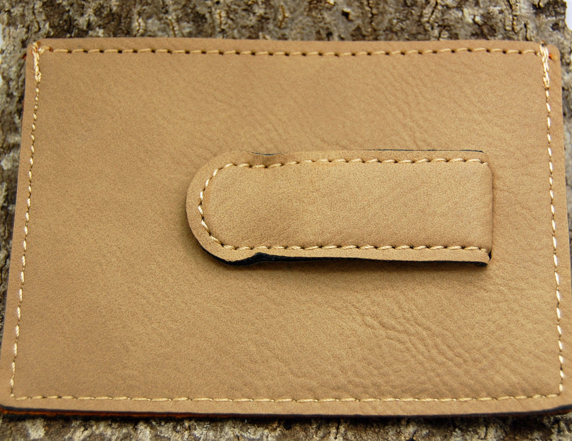 Customizable Rawhide Leatherette Wallet and Money Clip - Minter and Richter Designs
